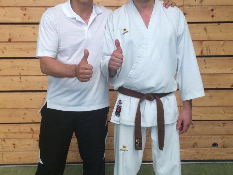 Rudi mit dem Lehrbeauftragen des Bayerischen Karate