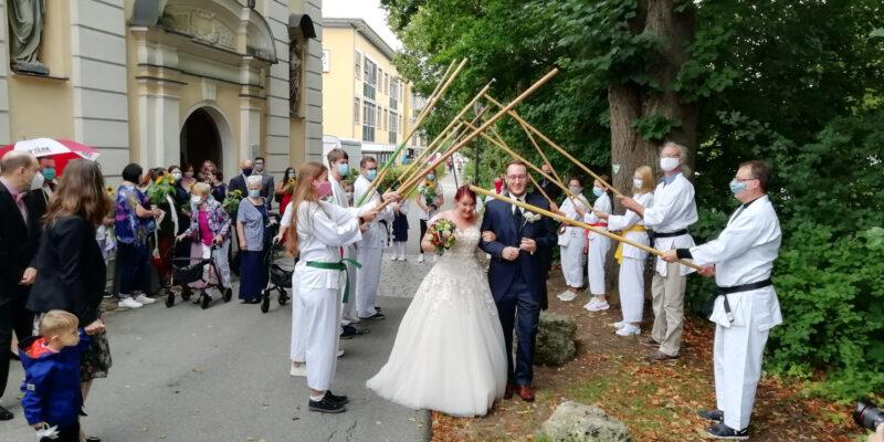 Spalier Hochzeit Peter