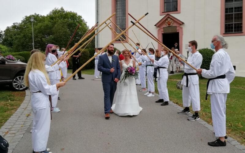 Hochzeit Max Spalier